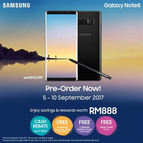 Harga Promo Samsung Note 8 samsung note 8 malaysia price rm3999 pre order to get