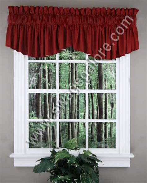 Burgundy Kitchen Valances Emery Insert Valance Burgundy Renaissance Country
