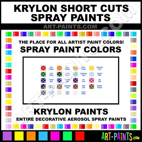 What Is The Best Color To Paint Short Nails | krylon short cuts spray paint aerosol colors krylon