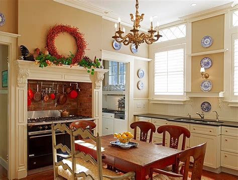 kitchen mantel ideas christmas decorating ideas that add festive charm to your kitchen