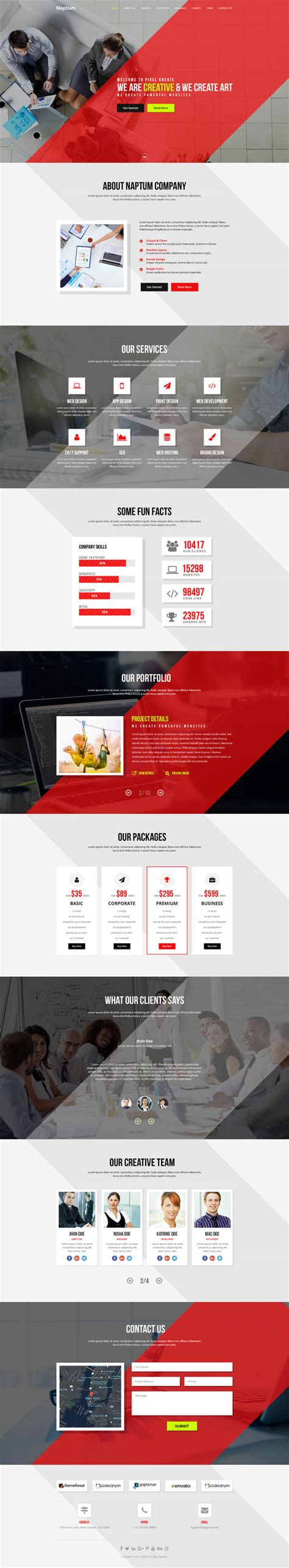 one page parallax template free best single page web templates web design graphic