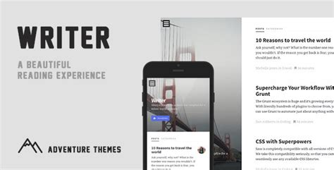 jekyll themes minimal writer a minimal blog for jekyll by adventurethemes