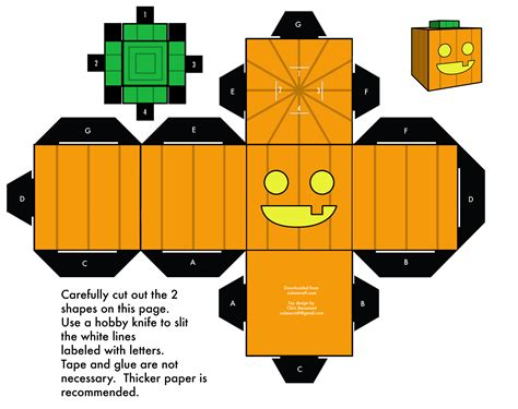 O Lantern Paper Craft - especial cubeecraft de taringa