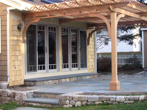 pergola house attached pergola no inside beams beams are