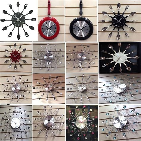 home decor clock large small cutlery wall clocks kitchen bedroom