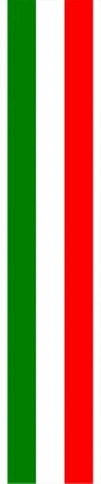 Stripes 8804 Set 3 In One 8 12 inch italian flag single racing stripe decal sticker 02