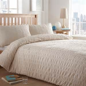 home collection basics cream textured seersucker bedding