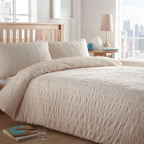 cream bedding set home collection basics cream textured seersucker bedding