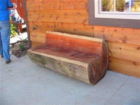 homemade log bench de 25 bedste id 233 er inden for log benches p 229 pinterest logs