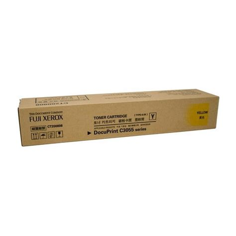 Toner Fuji Xerox Docuprint C3055dx fuji xerox ct200808 yellow toner cartridge 6 5k for