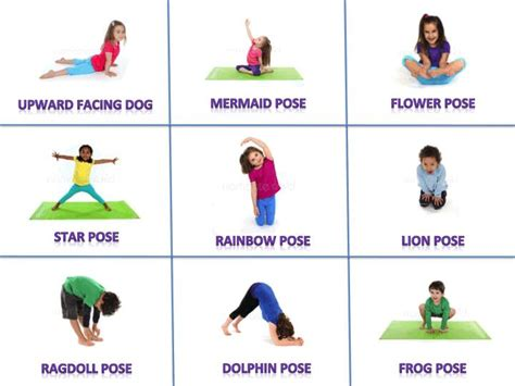 printable yoga pose flashcards moves clipart child yoga pencil and in color moves
