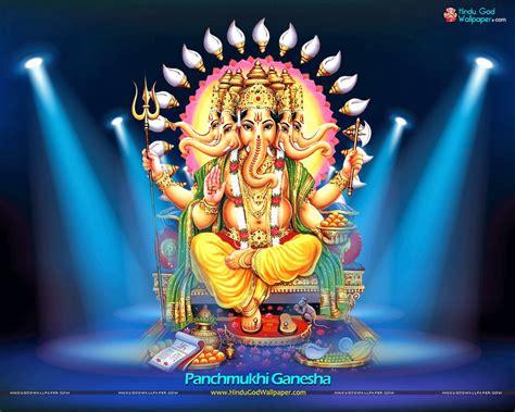 hindu god om panchmukhi ganesha hindu god wallpapers download