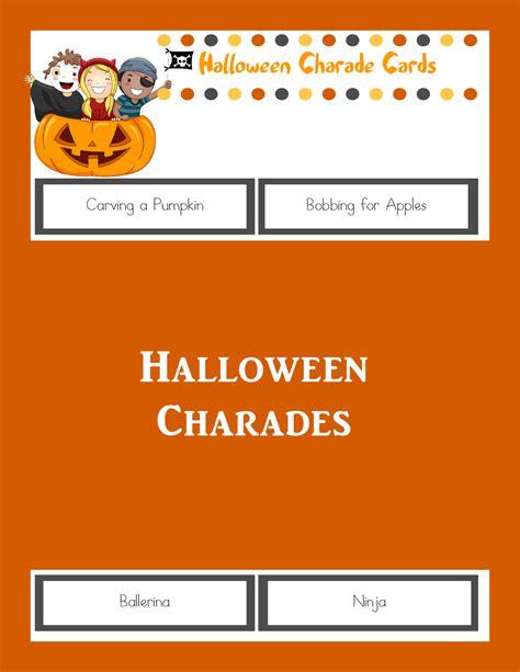 halloween charades free printable halloween game the halloween charades printable halloween game the joys of