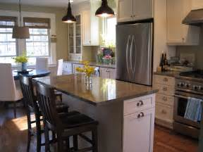 Small Kitchen Islands With Seating by Pictures Small Kitchen Island With Seating On End
