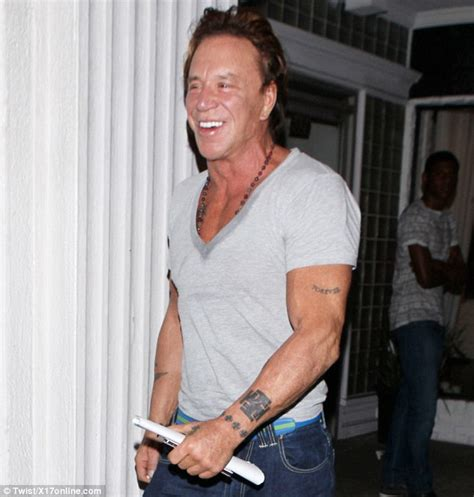 mickey rourke tattoos www mulhollandlynch mickey rourke great look with