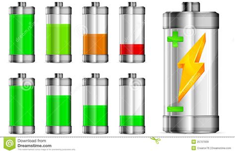 le vel images battery with level indicator stock vector image 25707939