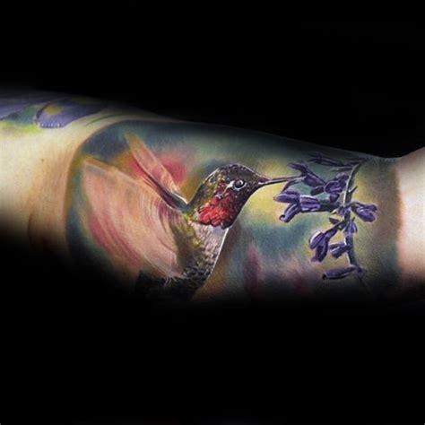 quarter sleeve watercolor tattoo 80 hummingbird tattoo designs for men winged ink ideas