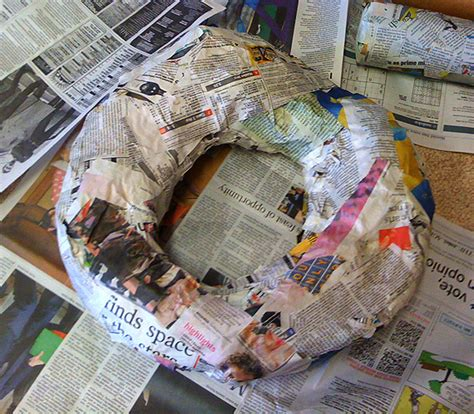 How To Make Paper Mache Food - how to make the form use railroad board cut and
