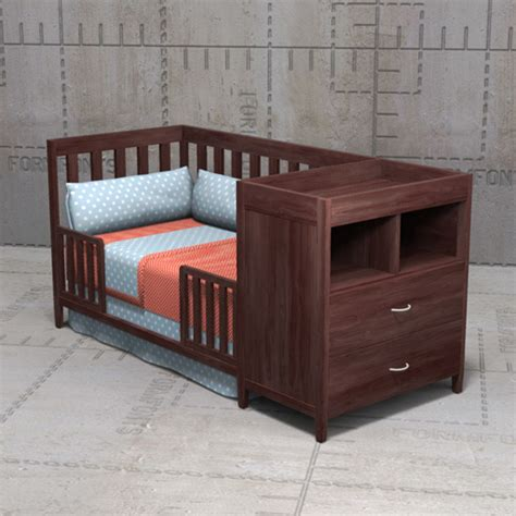 crib toddler bed combo austin crib combo 3d model formfonts 3d models textures