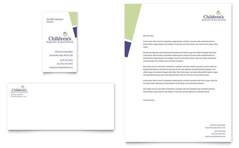 Childcare Business Template Child Care Preschool Business Card Letterhead Template