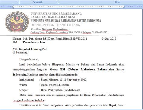 cara membuat proposal film contoh surat peminjaman bem dan izin kapolsek uchavision