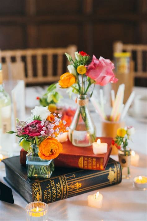book wedding centerpieces 8 unique wedding theme ideas from real weddings wedding