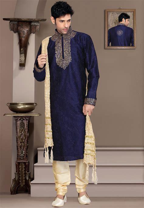 kurta pattern catalogue for men s blue kurta with churidar 68 00 men s kurta