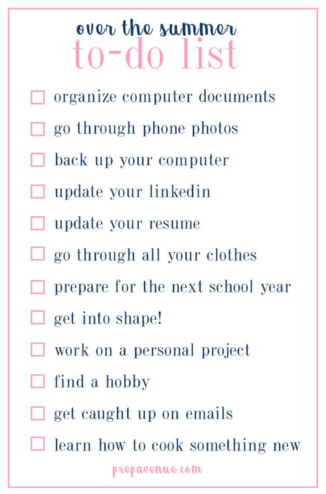To Do List Replace And With More 2 by 92 Summer To Do List 2017 55 Ideas For Your Summer