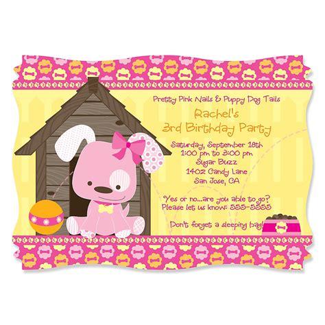 themed birthday invitations dog themed birthday party invitations dolanpedia