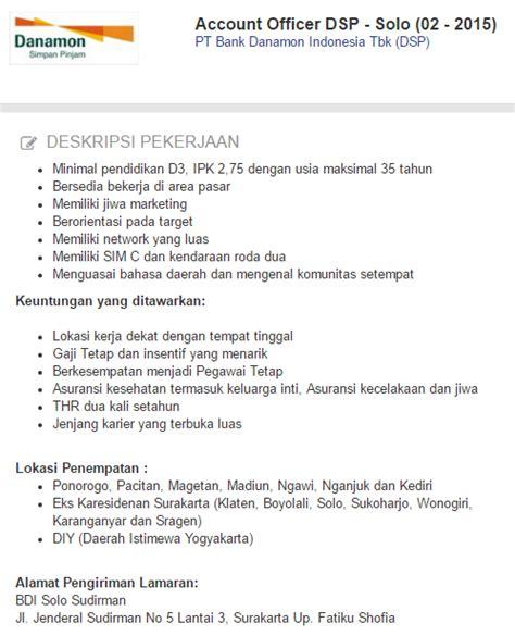 cara membuat lamaran kerja di jobstreet loker pt bank danamon indonesia tbk dsp november