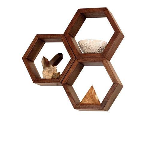 wood shelves wall shelving geometric hexagon shelves honeycomb