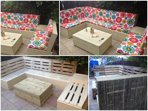 patio pallet furniture 1001 pallets