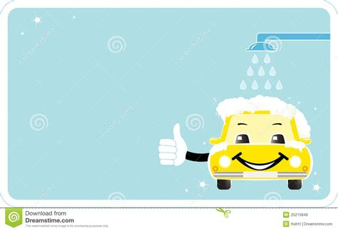 car wash gift card template visiting card with smiling car wash stock vector image