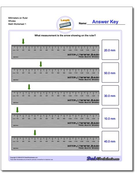 Metric Measurement Worksheets by Math Worksheets