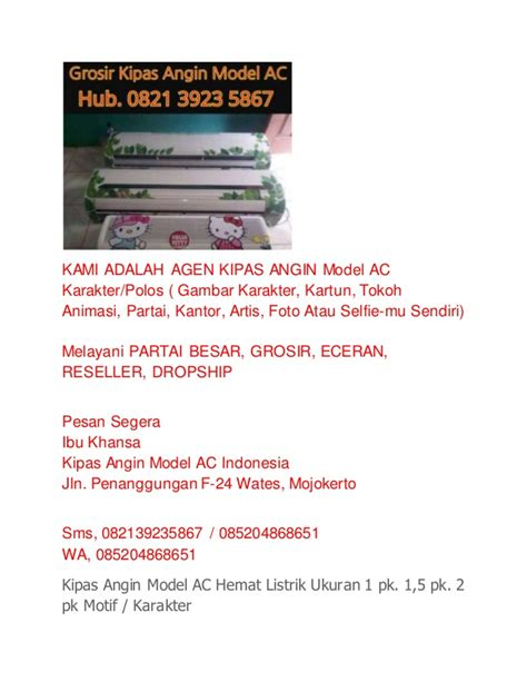 wa hub 082139235867 kipas angin model ac jakarta kipas angin model