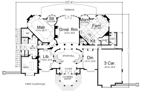 dual staircase house plans plan 12080jl masterpiece with dual grand staircases pantry design and photo galleries