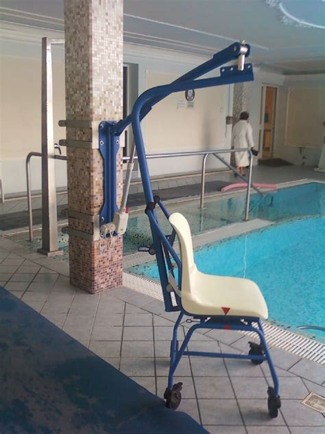 Pool Chair Lift by Bluone F130 Swimming Pool Lift Dolphin Mobility Ltd