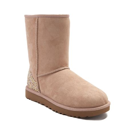 womans ugg boots womens ugg 174 classic ii glitter boot beige 581728