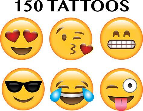tattoo emoji for iphone amazon com npw usa get emojinal nail art sticker decals