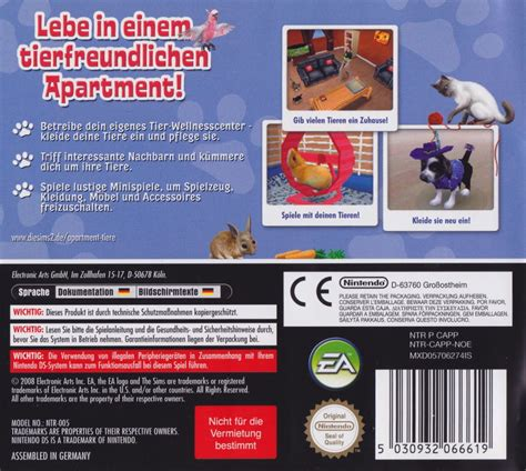 Sims 2 Apartment Pets The Sims 2 Apartment Pets 2008 Nintendo Ds Box Cover