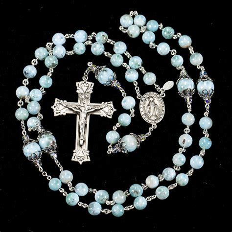 Handmade Rosaries - blue larimar rosary rosaries and chaplets by sue