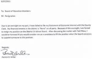 Letter of resignation teacher assistant