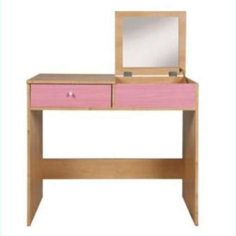 malibu dressing table with mirror maple pink ash desk