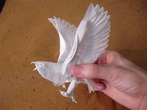 Eagle Origami - make origami eagle easy origami for crafts