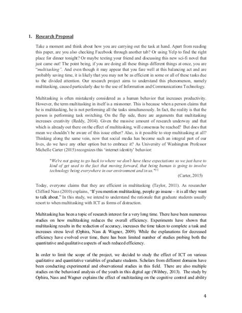 Multitasking Essay by Effect Of Multitasking On Gpa Research Paper