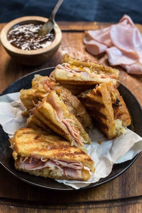 Wich Of The Week Grilled Gruyere With Braised Leeks by Gruyere Grilled Cheese Black Forest Ham And Fig Jam