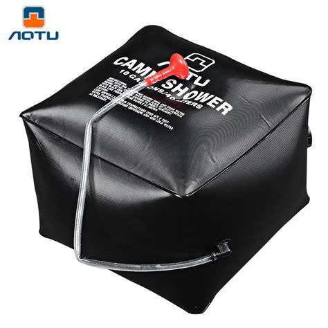 shower bag aotu outdoor shower water bag portable 40l 10 gallon