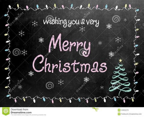 merry christmas blackboard chalkboard sign stock image