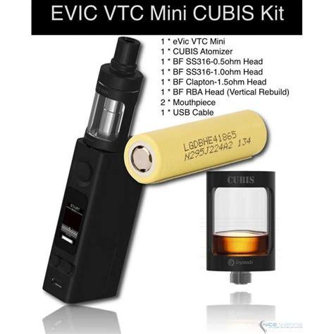 Evic Vtc Mini evic vtc mini cubis kit 75w battery by joyetech