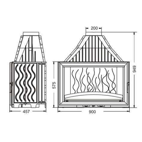 foyer invicta 900 grande vision kominek żeliwny grande vision 900 18 kw invicta ref 6290 44